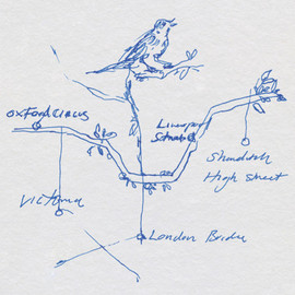 Tracey Emin - London Tube Map