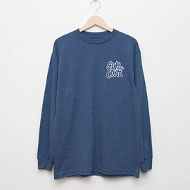 cup and cone - Logo L/S - Heather Navy