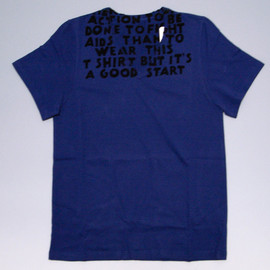 Maison Martin Margiela - AIDS T-shirt (Navy x Black)