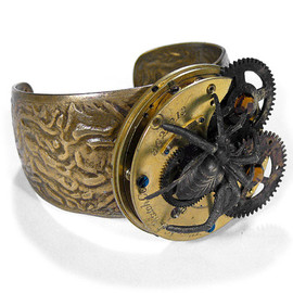 Steampunk Goggles Vintage American Optical Steampunk Glasses GREEN Tint BROWN Leather Side Shields Magnifier Loupes STUNNING