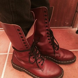 Dr.Martens - 14hole Boots cherry Red