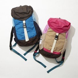 ficouture - PACKABLE TRAVEL BACK PACK(brown/pink)