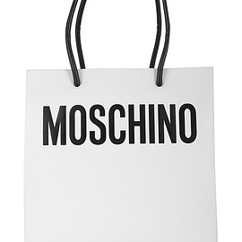 MOSCHINO - Printed leather tote