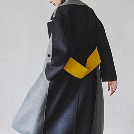 LE CIEL BLEU - 2018AW Coat Collection:Double Faced Mix Color Coat
