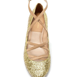 ZARA - glitter ballerina shoes