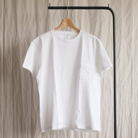 YAECA - 丸胴 Crew Neck T-Shirt #white