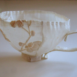 Kathrin - I'm a Little Teacup, linen, stitching