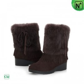 CWMALLS - Women Fur Suede Leather Snow Boots CW332103 - M.CWMALLS.COM