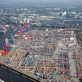 Hamburg / Germany - Hamburg Containerterminal Eurogate