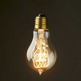 Edison Light Gloves - Vintage Edison round tungsten filament bulb