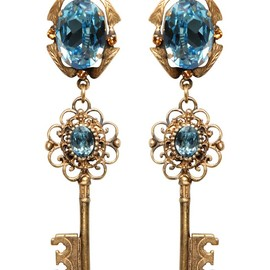 DOLCE&GABBANA - FW2014 KEY PENDANT EARRINGS