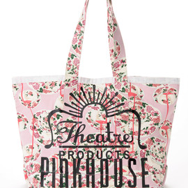 Theatre PRODUCTS - PINK HOUSE X THEATRE PRODUCTS ロゴトートバッグ
