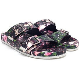 GIVENCHY - Floral Printed Leather Sandals
