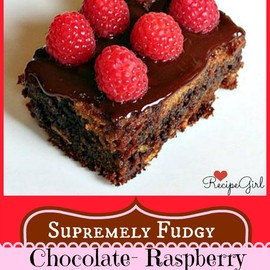 Recipe Girl - Fudgy Chocolate Raspberry Bars