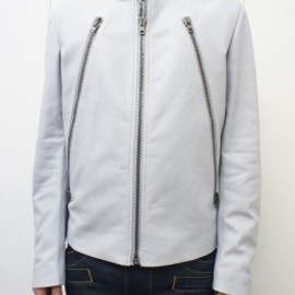 Maison Martin Margiela - Leather Jacket ( Light Grey )