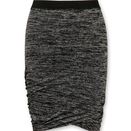 T by Alexander Wang - Marled ruched skirt