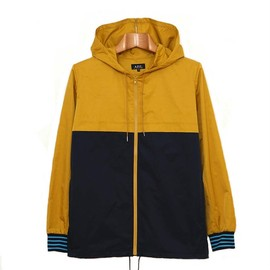A.P.C. - yellow navy hooded jacket APC YELLOW NAVY JACKET | GOODSTEAD UP TO 20% VOUCHER