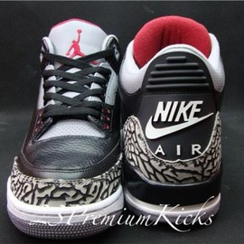Nike - NIKE AIR JORDAN 3 '88 RETRO BLACK CEMENT