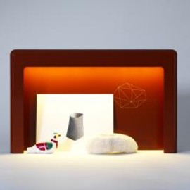 Ronan & Erwan Bouroullec - Wajima Desk-lamp,Laquered Wood, Gold, LED Light, Kreo Gallery, Edition of 8