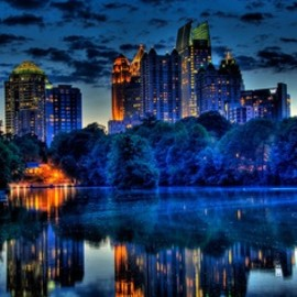 Atlanta's Midtown - at the Blue Hour-by David Scrugg