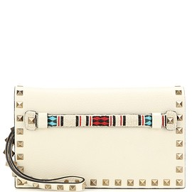 VALENTINO - SS2016 Embellished leather clutch bag