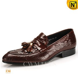 CWMALLS - CWMALLS® Mens Tassel Leather Dress Loafers CW716211