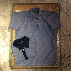 State Prison - Pullover Chambray Shirt(1970`s Dead Stock)