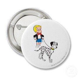 Color Buttons - Richie Rich Walks Dollar the Dog Badge