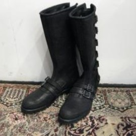 blackmeans - 6buckle boots (All Black)