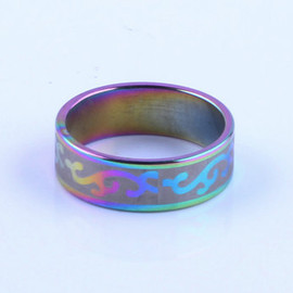 scap city vintage - Rainbow Steel Ring