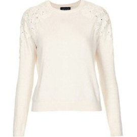 TOPSHOP - KNITTED LACE SHOULDER JUMPER