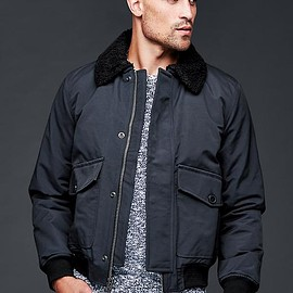 GAP - Nylon aviator jacket deep true navy