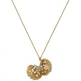 ALEX MONROE - ☆H.P.franceセレクト☆ALEX MONROE GOLD PLATED FLOWER BALL BIRD LOCKET 1