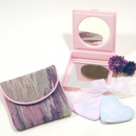 MARY KAY - 80's PLASTIC COMPACT MIRROR and BAG ~MARY KAY~