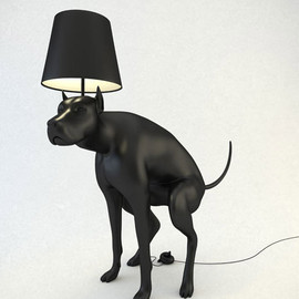 Whatshisname - Pooping Dog Lamps
