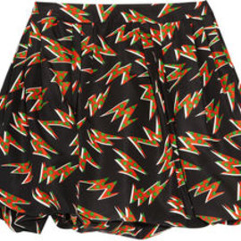 miu miu - PRINTED SILK-FAILLE BUBBLE SKIRT