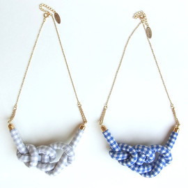 HOMAKO - Gingham Rope Knot Necklace
