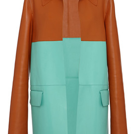MARNI - Resort2015 Color-Blocked Leather Duster Coat