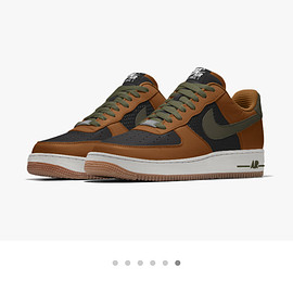 NIKE, Nike By You - Air Force 1 Low By You - Black/Ginger/Olive
