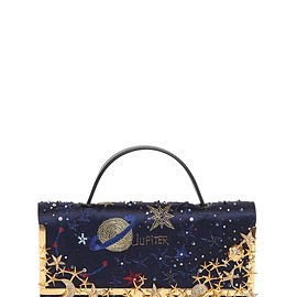 VALENTINO - Pre-Fall 2015 COSMOS EMBROIDERED SATIN CLUTCH