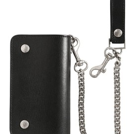 SAINT LAURENT - SS2015 LEATHER WALLET WITH POCKET CHAIN