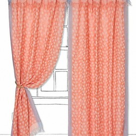 Anthropologie - Summer-Spotted Curtain/CORAL