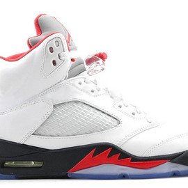 Nike - NIKE AIR JORDAN 5 RETRO WHITE/FIRE RED-BLACK