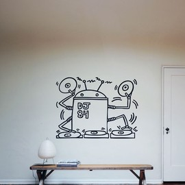 "Blik -  ""Robot Dj 84 by keith haring"" / Wall Decals"
