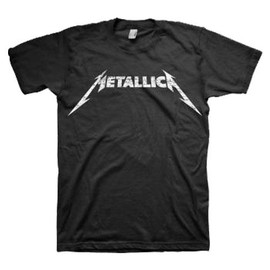 METALLICA - BLACK AND WHITE LOGO/Tシャツ