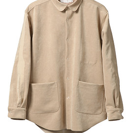 NADA. - Oversized fake suede shirts / Beige