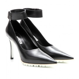 miu miu - LEATHER PUMPS WITH ANKLE STRAP