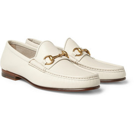 Gucci - GucciHorsebit Leather Loafers