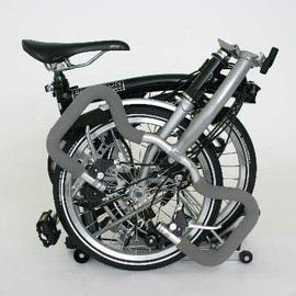 Brompton bicycle & travel suitcase