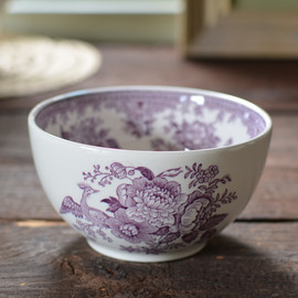 Burleigh - Plum Asiatic Pheasants Sugar Bowl Large